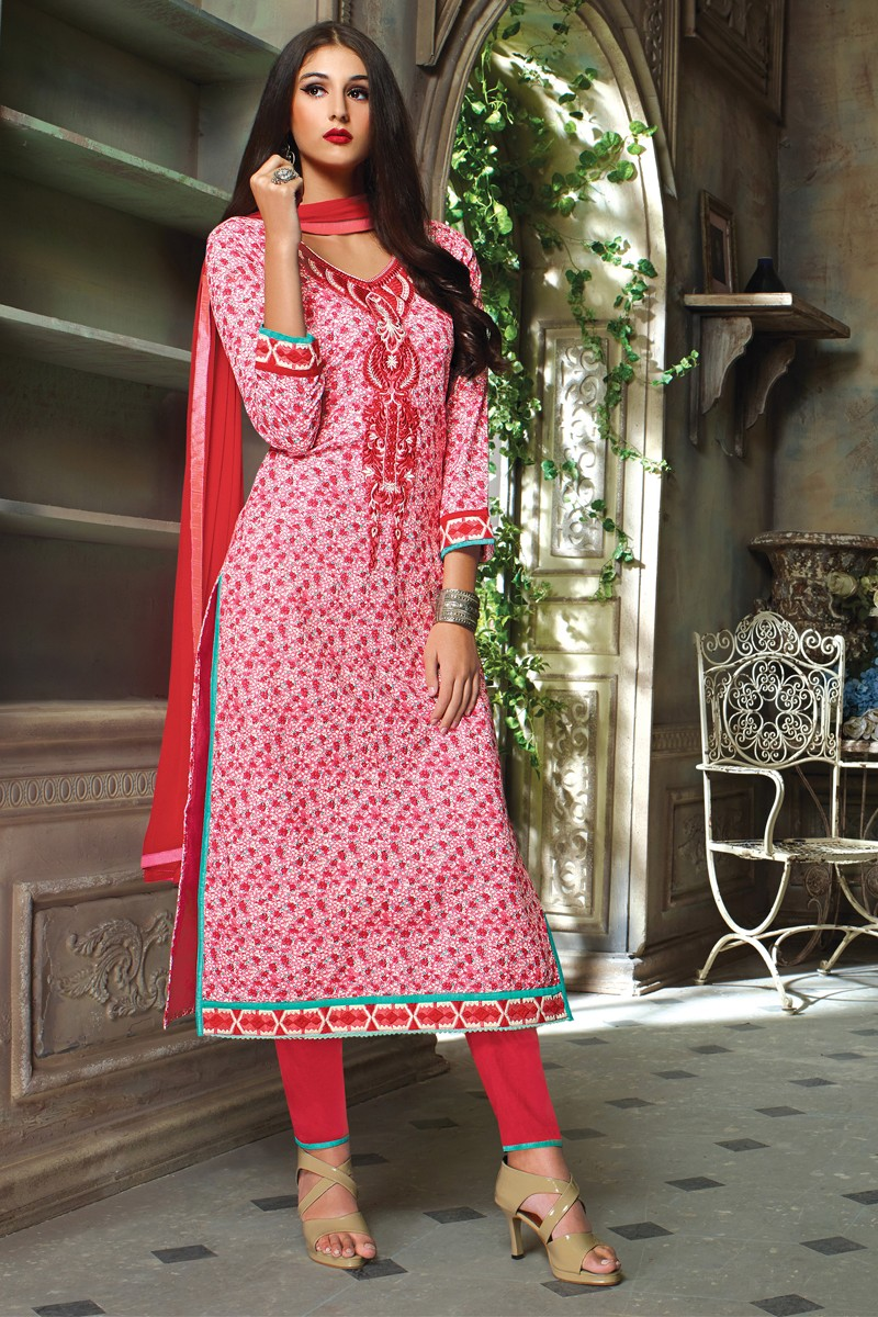 3e1c62f15d Diffusion Contemporary Rose Pink Salwar Kameez - Saragna