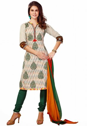 Diffusion Aesthetic Off White Salwar Kameez