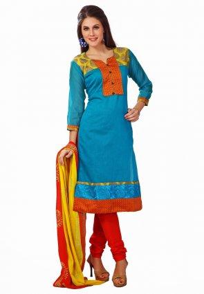 Diffusion Alluring Azure Blue Salwar Kameez