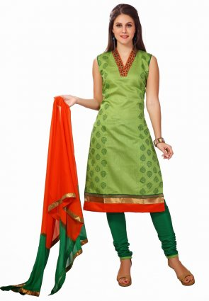 Diffusion Alluring Parrot Green Salwar Kameez