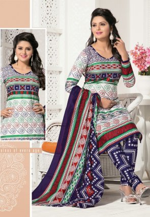 Diffusion Attractive Off White Salwar Kameez