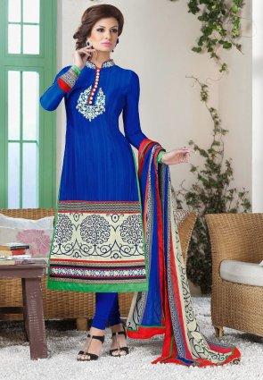 Diffusion Butta Blue Salwar Kameez