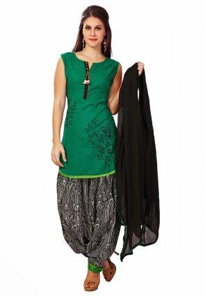 Diffusion Butta Green Salwar Kameez