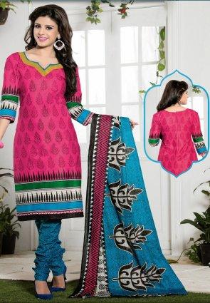 Diffusion Captivating Pink Salwar Kameez