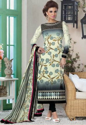 Diffusion Charming Off White Salwar Kameez