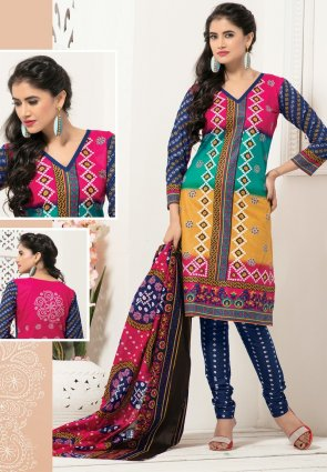 Diffusion Chic Apricot And Pink Salwar Kameez