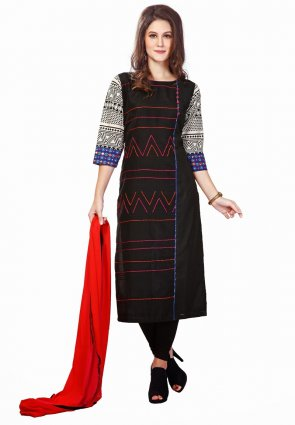 Diffusion Chic Black And Blue Salwar Kameez