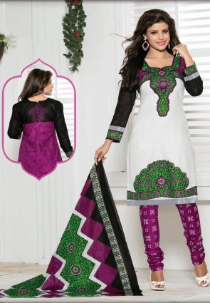 Diffusion Contemporary Black And Off White Salwar Kameez