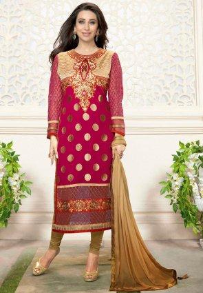 Diffusion Divine Beige And Pink Salwar Kameez