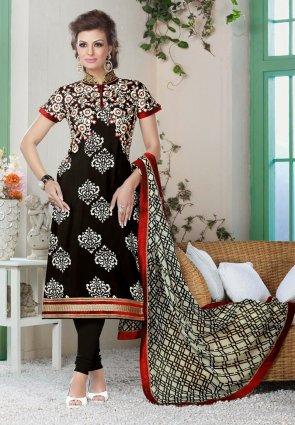 Diffusion Divine Black Salwar Kameez