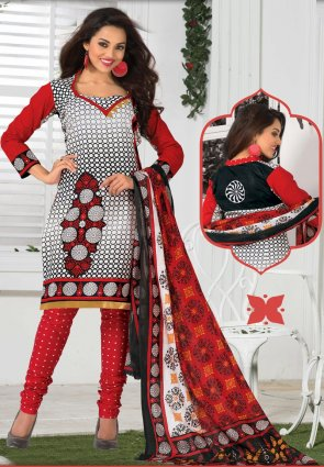 Diffusion Divine Black And Off White Salwar Kameez