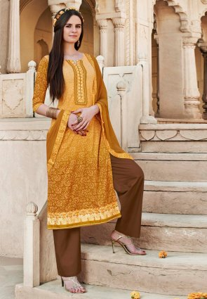 Diffusion Divine Orange Salwar Kameez