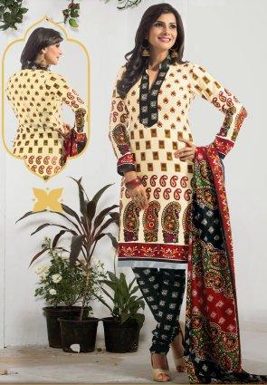 Diffusion Elegant Buttercream Salwar Kameez