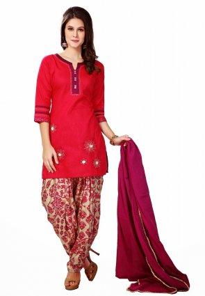 Diffusion Elegant Red Salwar Kameez