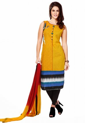 Diffusion Enigmatic Yellow Salwar Kameez