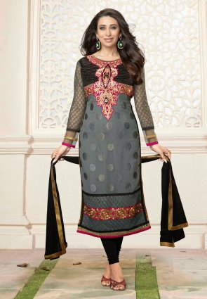 Diffusion Fancy Gray Salwar Kameez