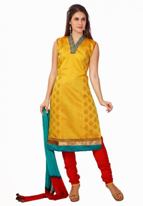 Diffusion Fancy Yellow Salwar Kameez