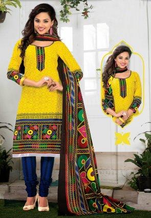 Diffusion Flamboyant Yellow Salwar Kameez