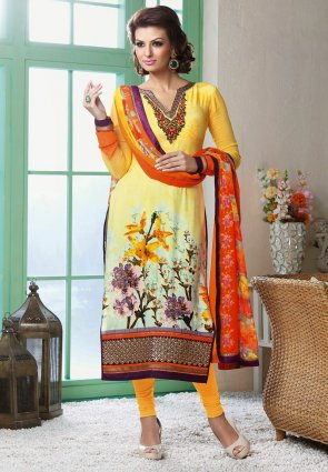 Diffusion Gorgeous Pale Yellow Salwar Kameez