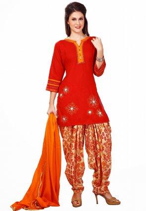 Diffusion Gorgeous Red Salwar Kameez