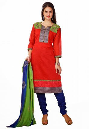 Diffusion Luscious Red Salwar Kameez