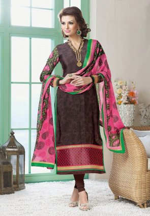 Diffusion Magnificient Brown Salwar Kameez