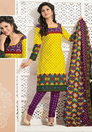 Diffusion Melodic Magenta And Yellow Salwar Kameez
