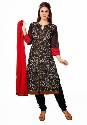 Diffusion Plushy Black Salwar Kameez