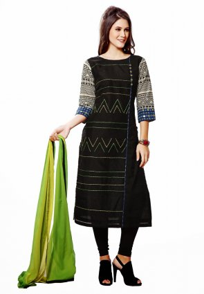Diffusion Plushy Black And Blue Salwar Kameez
