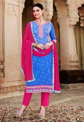 Diffusion Plushy Blue Salwar Kameez