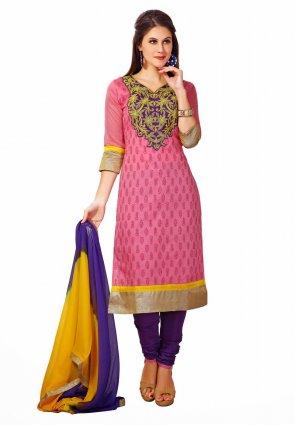 Diffusion Ravishing Rose Pink Salwar Kameez