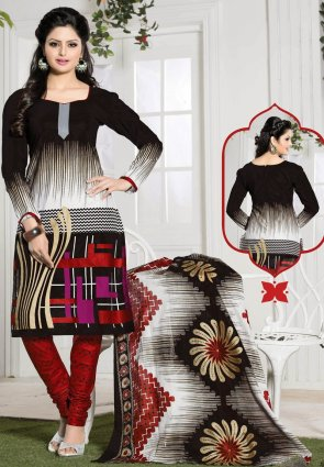 Diffusion Sparkling Black And Off White Salwar Kameez