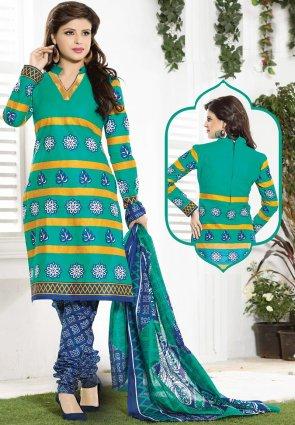 Diffusion Sparkling Jade Green Salwar Kameez