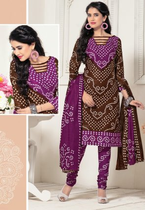Diffusion Unique Brown And Magenta Salwar Kameez