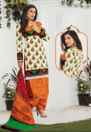 Diffusion Unique Buttercream Salwar Kameez