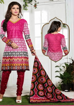 Diffusion Unique Off White And Pink Salwar Kameez