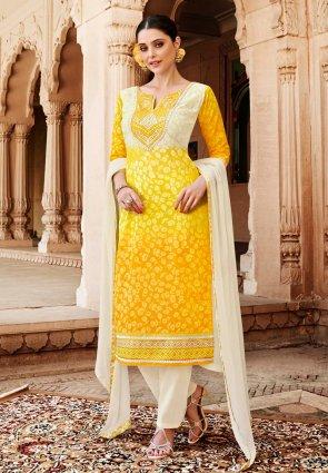 Diffusion Vivacious Yellow Salwar Kameez