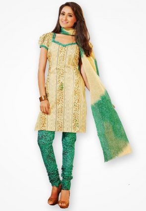 Surya Life Stylish Light Yellow Dress Material