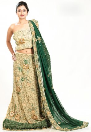 Diffusion Adorable Beige Brown Chaniya Choli