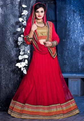 Diffusion Adorable Red Lehenga Choli