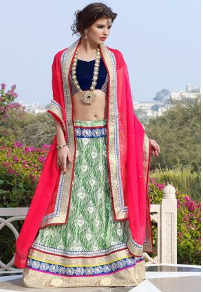 Diffusion Alluring Jade Green Lehenga Choli
