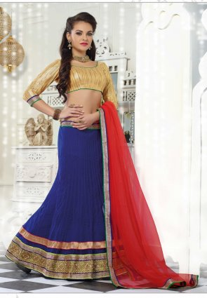 Diffusion Alluring Royal Blue Lehenga Choli
