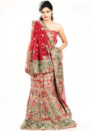 Diffusion Attractive Red Chaniya Choli