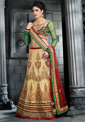Diffusion Captivating Buttercream Lehenga Choli
