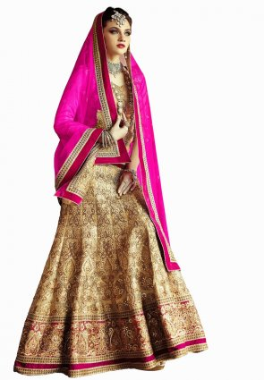 Diffusion Captivating Cream Lehenga Choli