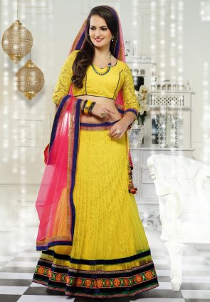 Diffusion Captivating Yellow Lehenga Choli