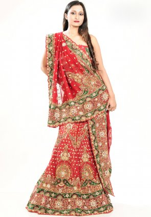 Diffusion Charming Coral Chaniya Choli