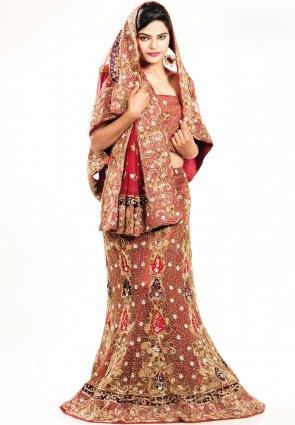 Diffusion Charming Red Chaniya Choli