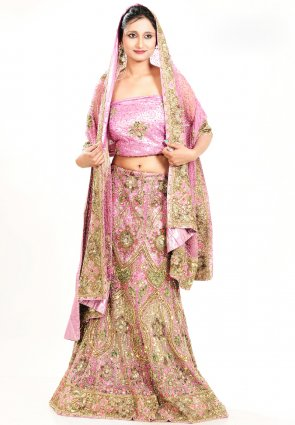 Diffusion Charming Rose Pink Chaniya Choli