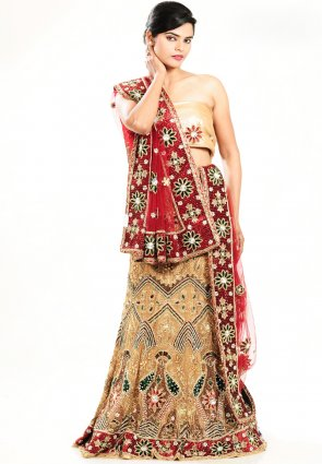Diffusion Chic Beige Brown Chaniya Choli